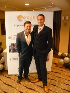 Alex Brooker with Sunrise Medical's UK Marketing and Product Manager, Simon Collins