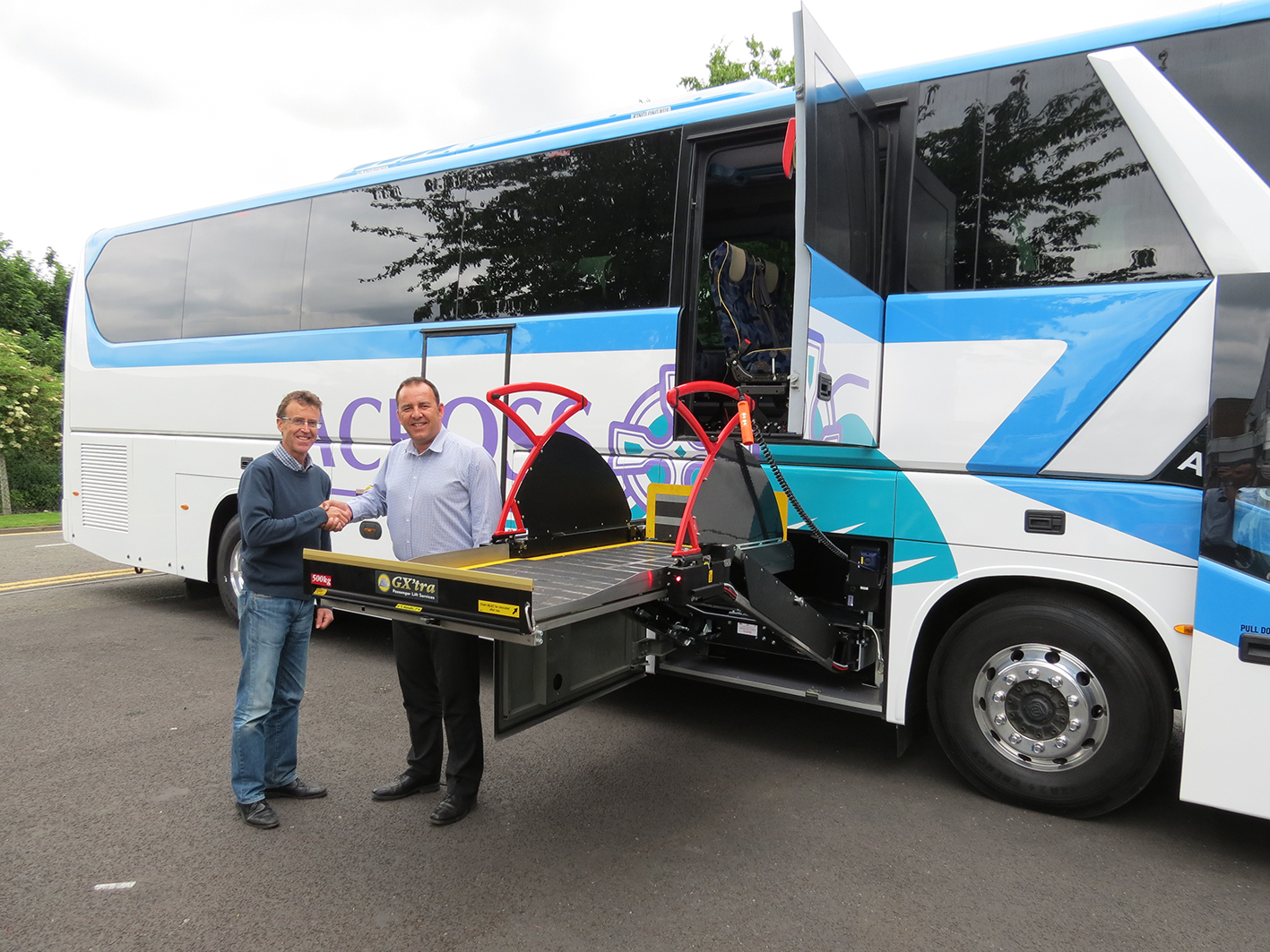 PLS installs pioneering passenger stretcher lift to bespoke accessible care coach