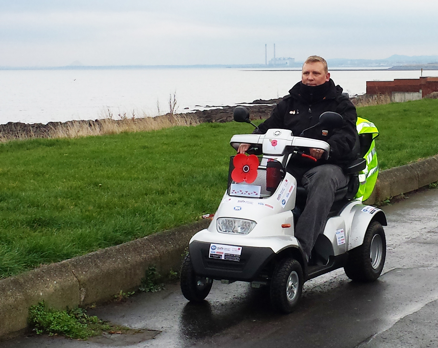 Inspirational war veteran completes 100 mile TGA Mobility scooter charity challenge on 100 year WW1 anniversary