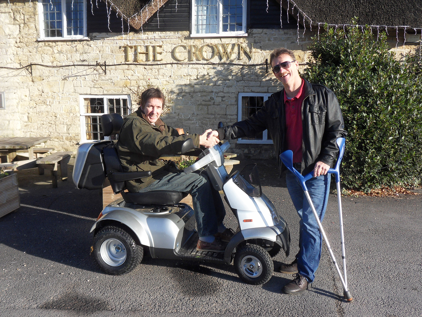 Dorset man regains freedom with community donated TGA mobility scooter