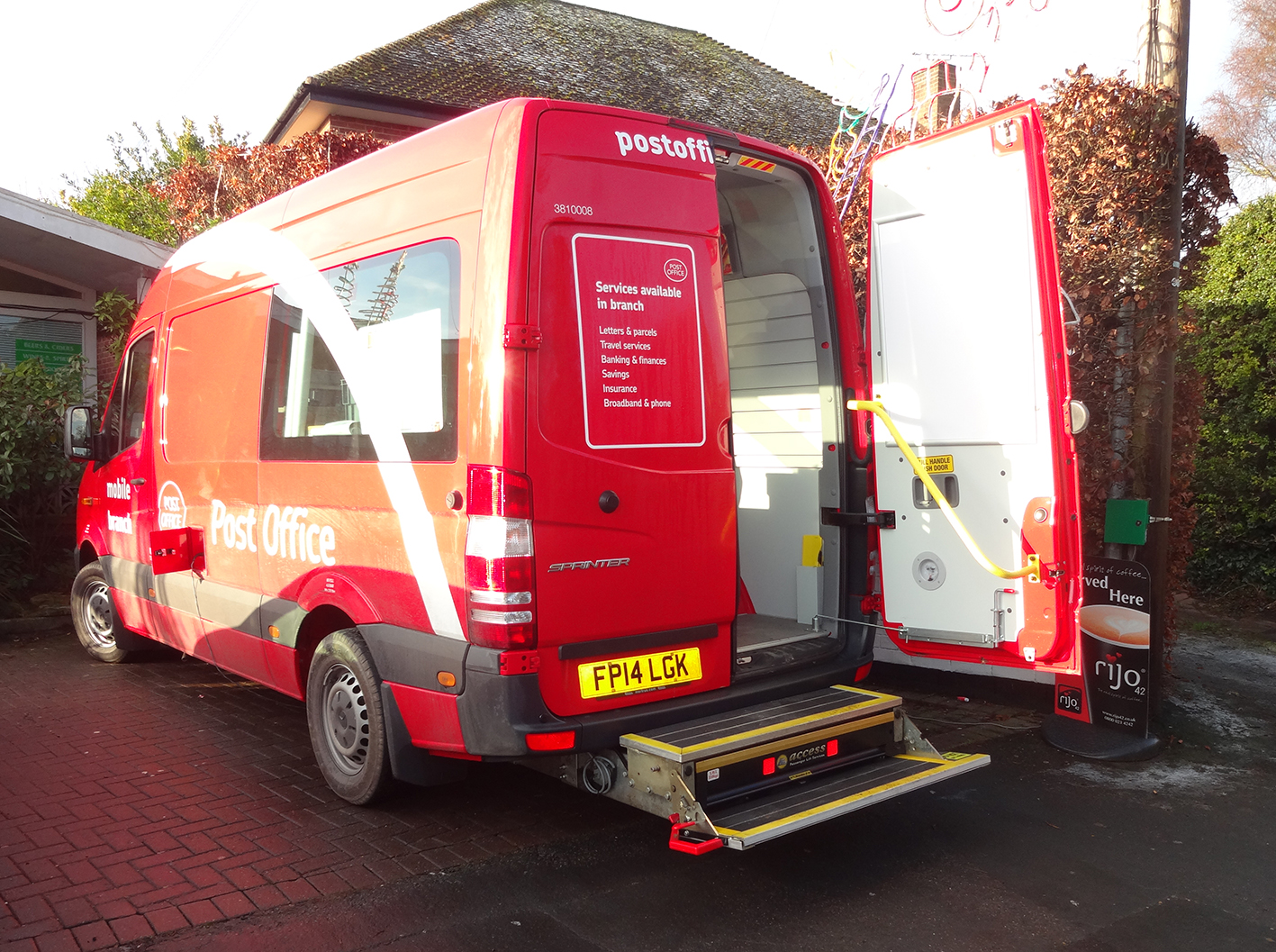 PLS Access(TM) Cassette Lift and Dual Bumper Step delivers accessibility to new mobile Post Office fleet