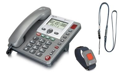 Independent Living Telecare Solution: The NEW amplicomms PowerTel 97 SOS Phone