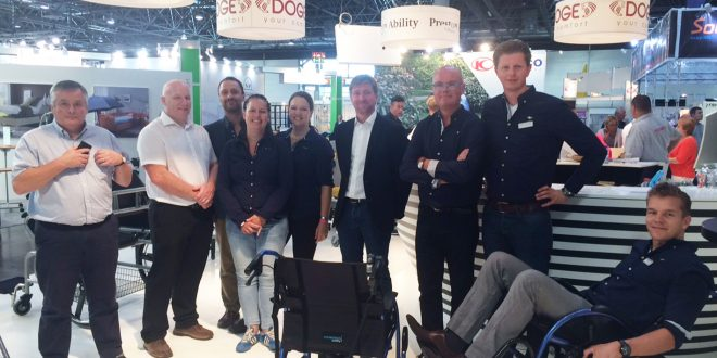 TGA celebrates new StrongBack wheelchair success with European distributor at Rehacare 2016