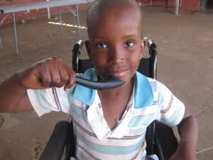 The spoon has traveled all the way to disabled people in South Africa