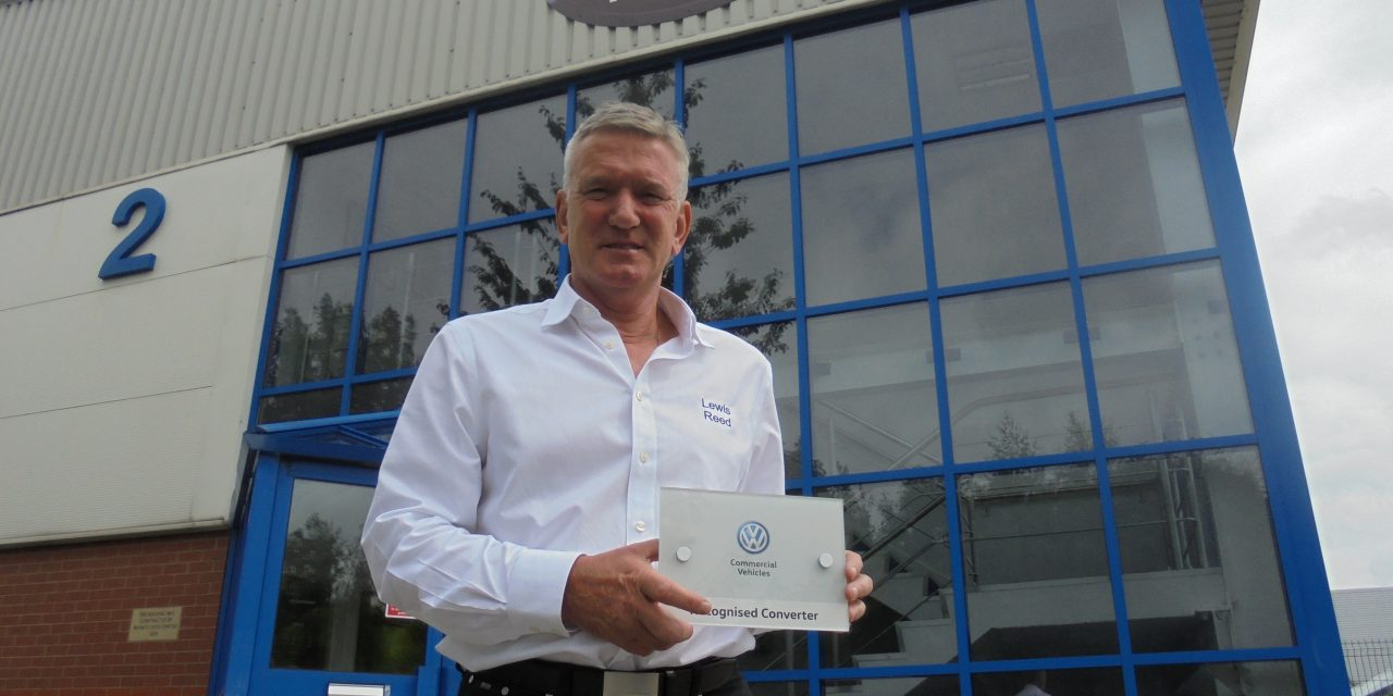 Lewis Reed recognised as an official Volkswagen vehicle converter