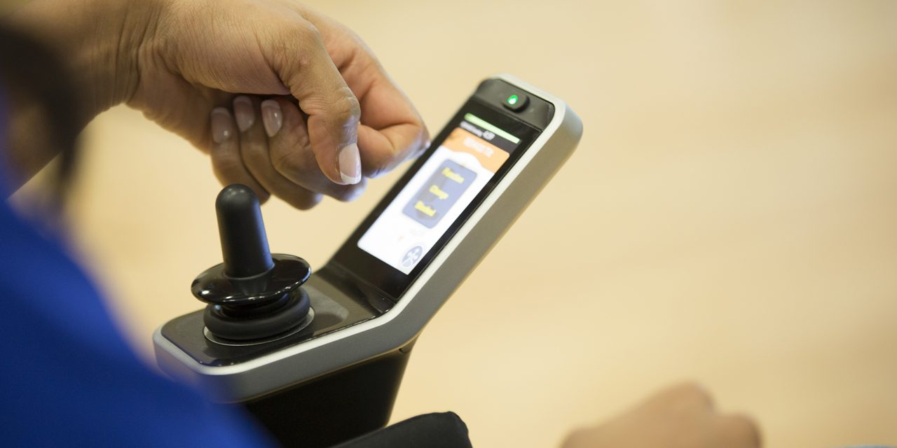Invacare's groundbreaking touchscreen control technology for powerchairs