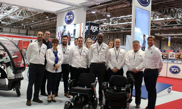 TGA's Naidex product launch and test track success